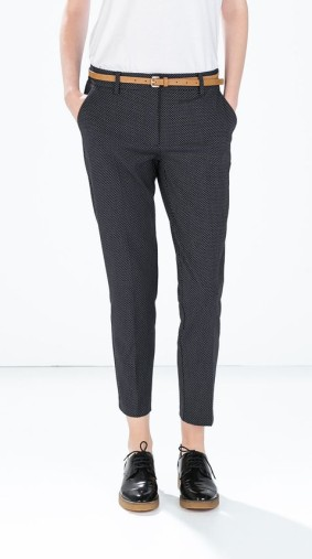 Zara €39.95 - Mini polka dot belted trousers http://bit.ly/1wLoOtm