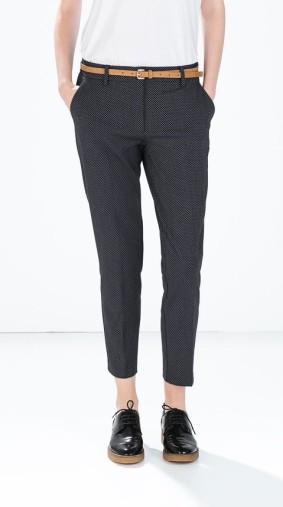 Zara €39.95 - Mini polka dot belted trousers http://bit.ly/1wLoOtm