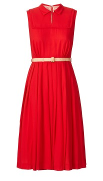 Orla Kiely €390 - Solid Crepe Georgette Pleated Dress http://bit.ly/1KU5rIk