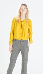 Zara €29.95 - Shirt with bow collar (also available in Dark Green) http://bit.ly/1KyOHWW