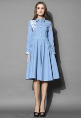 Chicwish €43.90 - Grace Embroidered Denim Midi Dress http://bit.ly/1CcgnwI
