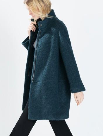 Zara €129 - Mohair Coat http://bit.ly/1tXCmqn