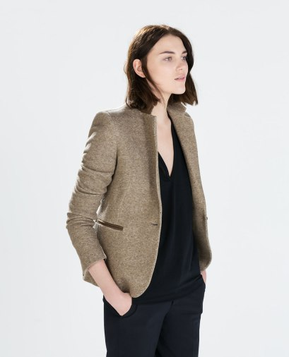 Zara €59.95 - Blazer with elbow patches http://bit.ly/1xRFP9i