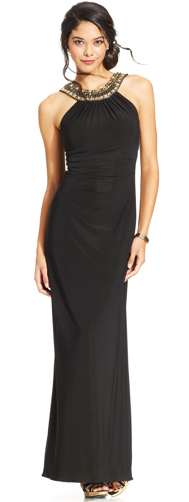 Xscape @ Macys €137.81 - Embellished Ruched Halter Gown http://mcys.co/1GpGO6z
