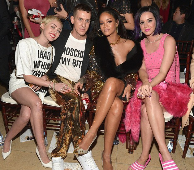 Miley Cyrus, Jeremy Scott, Rihanna, Katy Perry