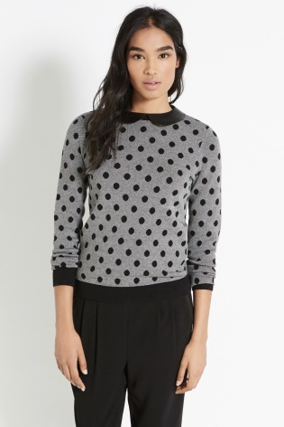 Oasis €44 - Spot Faux Leather Collar Top http://bit.ly/1FHLRyJ