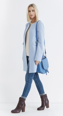 Oasis €106 - Sixties Collarless Coat http://bit.ly/14kw3Rf
