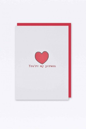 Urban Outfitters €5 - You're My Person Card http://bit.ly/1CqyXkO