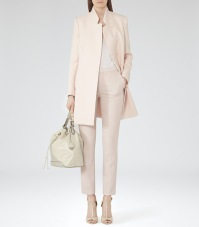 Reiss €365 - Concealed Button Coat in Oyster http://bit.ly/1utL4qU