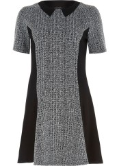 River Island €43 - Grey Marl Panelled Fit And Flare Dress http://bit.ly/1KU5BPO