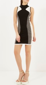 River Island €50 - Black Stretch Panel Bodycon Dress http://bit.ly/1CtVqLC