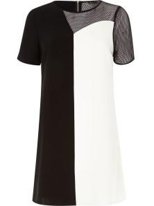 River Island €53 - Black Monochrome Mesh A-Line Dress http://bit.ly/1ztHYKj