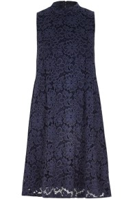 River Island €55 - Navy Lace Turtle Neck Swing Dress http://bit.ly/1CptyZ7