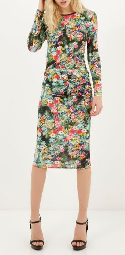 River Island €50 - Tropical Print Twist Bodycon Dress http://bit.ly/1BsOUFT
