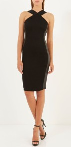 River Island €50 - Black Leather-Look Panel Bodycon http://bit.ly/1AHcuM0