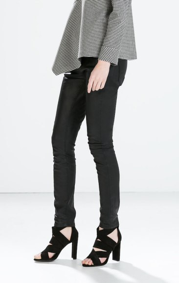 Zara €39.95 - Coated 5-pocket Jeans http://bit.ly/1yWCRkD