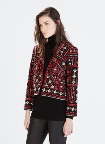 Zara €79.95 - Ethnic embroidered jacket http://bit.ly/1DycwMB