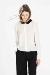 Zara €39.95 - Shirt with contrasting collar http://bit.ly/1B4xhgB