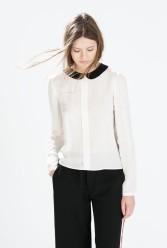 Zara €39.95 - Shirt with contrasting collar http://bit.ly/1B4xhgB
