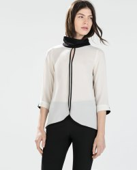 Zara €29.95 - Blouse with high collar http://bit.ly/1xcER2n