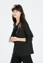 Zara €29.95 - Blouse with polka dot bow http://bit.ly/1xZ9rSz