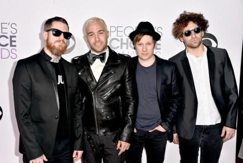 Andy Hurley, Peter Wentz, Patrick Stump & Joe Trohman of Fall Out Boy