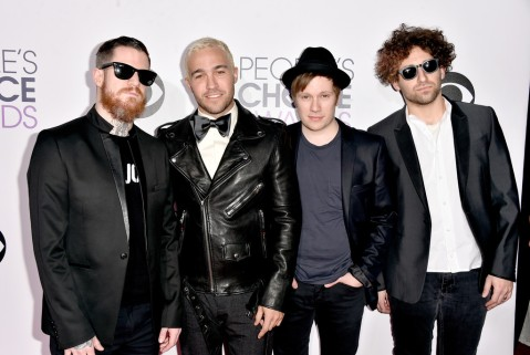 Andy Hurley, Peter Wentz, Patrick Stump & Joe Trohman of Fall Out Boy