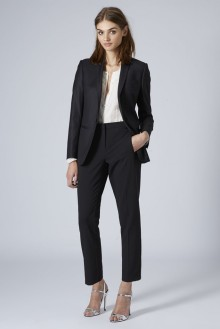 Topshop Premium £65/€83 - Tailored Suit Blazer £22/€28 - Cigarette Trousers http://bit.ly/1xcTUJs