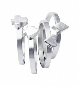 Edge Only by Jenny Huston €95 each - Card Suit Stacking Rings