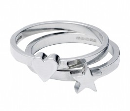Edge Only by Jenny Huston €95 each - Heart & Star Stacking Rings