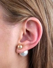 Lipsy €10.70 - Lipsy Pearl Back Stud Earrings http://bit.ly/1CqmldE