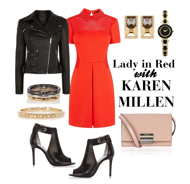 jan 16 Lady In Red: Karen Millen