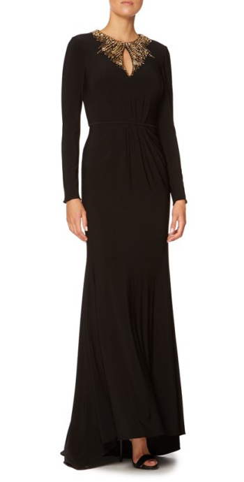 JS Collections @ House of Fraser €118 - Long Sleeve Embellished Neck Jersy Gown http://bit.ly/1yGNFDl http://bit.ly/1yFQ7f3 (more sizes)