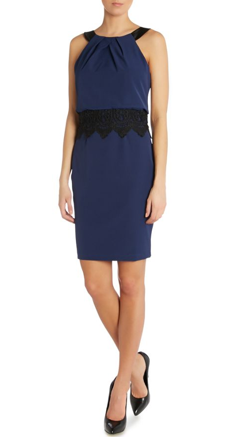 Lipsy @ House of Fraser €78.60 - 2in1 Lace Waist Bodycon Dress http://bit.ly/1yFt2cl