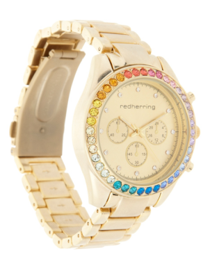 Red Herring @ Debenhams €60 - Gold rainbow bezel watch http://bit.ly/1JqM2Ni
