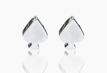 Edge Only by Jenny Huston €79 - Spade Earrings http://bit.ly/1ufBD3O