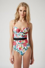 Topshop €49.95/£36 - Pop Floral Swimsuit http://bit.ly/1JS8z9z