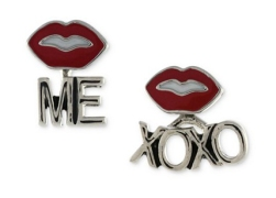 BCBGeneration €8.40 - Silver-Tone XO, Lips and Me Stud Earring Duo http://mcys.co/1I0qRVc