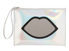 Lulu Guinness €128.25 - Medium Hologram Perspex Lips Pouch http://bit.ly/1yGImA0