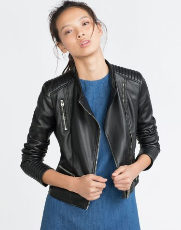 Zara €59.95 - Faux Leather Jacket with Zips http://bit.ly/1WcD93V