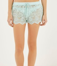 River Island €24 - Aqua Lace Drawstring Shorts http://bit.ly/1vFBQ0F