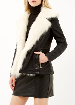 River Island €116 - Black leather-look biker jacket http://bit.ly/1Rw0E14