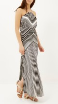 River Island €33 - Black & White Strappy Maxi http://bit.ly/1vFBwz5