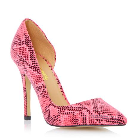 Dune €55 - Reptile Print Semi D'orsay Pointed Toe Court Shoes http://bit.ly/1DfwTgr