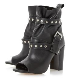 Dune €165 - Olenna Studded Peep Toe Leather Ankle Boots http://bit.ly/1Nrnm7b