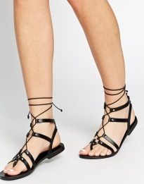ASOS FOOZLE €27 - Guilly Tie Leather Sandals http://bit.ly/1ETnj1a