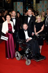Jane Wilde Hawking & Stephen Hawking and family