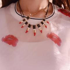 YesStyle €8.10 - Lipstick Statement Necklace http://bit.ly/18NjnVR