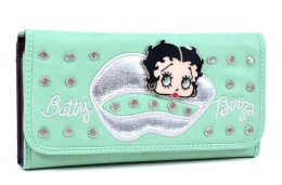 Betty Boop €27.93 - Kiss Design Rhinestone Checkbook Wallet http://bit.ly/1ArExEq
