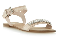 Dune €90 - Neeve Jewel & Grosgrain Detail Flat Sandals http://bit.ly/1ANyojH